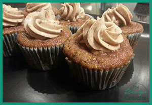 Chocolate chip pumpkin cupcakes with cinnamon marscapone icing